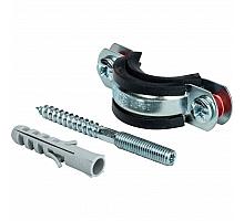 STOUT SAC-0020-Комплекты Хомут для труб, комплект: хомут+шпилька шуруп +дюбель пластиковый 1(32-37)