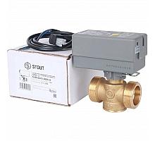 STOUT  Компактный 2-Ходовой зональный клапан, сервопривод 230V, с кабелем 1м., НР 1 1/4