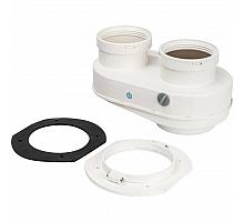 STOUT  Элемент дымохода DN80/80 адаптер для подкл. разд. труб (совместимый  Bosch (фланец ) PP-Ryton