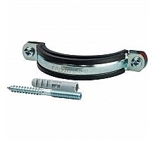 STOUT SAC-0020-Комплекты Хомут для труб, комплект: хомут+шпилька шуруп +дюбель пластиковый 3(87-94)