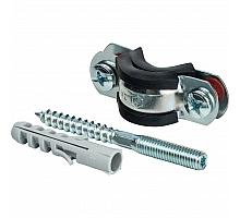 STOUT SAC-0020-Комплекты Хомут для труб, комплект: хомут+шпилька шуруп +дюбель пластиковый 1/2(20-24)