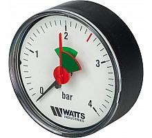Watts  MHA 63/4x1/4 Watts Манометр аксиальный 63 мм, 0-4 бар.