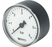 Watts  F+R100(MDA) 50/6x1/4 Манометр аксиальный 50мм, 0-6 бар