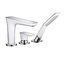 Смеситель для ванны Hansgrohe PuraVida белый/хром 15432400