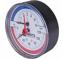 Watts  F+R818 Термоманометр аксиальный 6х1/2 DN 80 (0-6 бар)