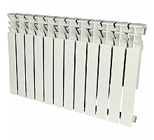 ROMMER  Plus 500 12 секций радиатор алюминиевый (RAL9016)