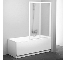 Шторка для ванны Ravak VS2 105 796M0100Z1 (белый + транспарент)
