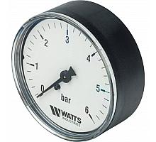 Watts  F+R100(MDA) 63/6 манометр аксиальный нр 1/4х 6 бар (63 мм)