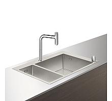 Кухонная мойка с встроенным смесителем Hansgrohe C71-F655-09 75x50 43206000