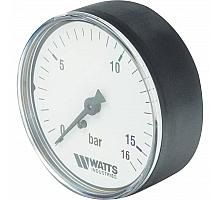 Watts  F+R100(MDA) 63/16 Манометр аксиальный  нр 1/4х 16 бар (63мм)