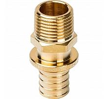 STOUT  Переходник с наружной резьбой 20xR 1/2 для труб из сшитого полиэтилена аксиальный