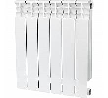 STOUT  Space 500 6 секций радиатор биметаллический боковое подключение RAL9016