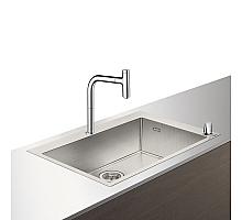 Кухонная мойка с встроенным смесителем Hansgrohe C71-F660-08 76x50 43202000