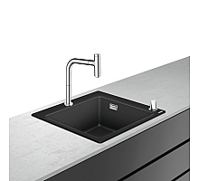 Кухонная мойка с встроенным смесителем Hansgrohe C51-F450-06 56x51 43217000