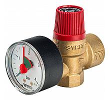 Watts  SVM 25 -1/2 Предохранительный клапан с манометром 2.5 бар