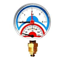 Watts  FR 828(TMRA) 4 Термоманометр радиальный 1/2 х 4 бар (80мм)