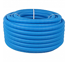 STOUT  Труба гофрированная ПНД, цвет синий, наружным диаметром 32 мм для труб диаметром 25 мм