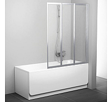 Шторка для ванны Ravak VS3 100 Supernova 795P0100Z1 (белый + транспарент)