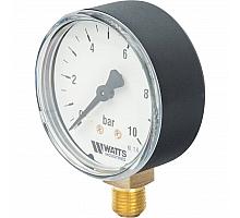 Watts  F+R200(MDR) 63/10 Манометр радиальный нр 1/4х 10 бар (63мм)