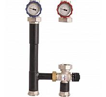 ROMMER RDG-0002 Насосная группа с термостатическим смесительным клапаном (35-60?С) 1 без насоса