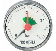 Watts  F+R101(MHA) 63/4x3/8 Манометр аксиальный  63мм, 0-4 бар