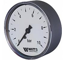 Watts  F+R100(MDA) 63/10 Манометр аксиальный   нр 1/4х 10 бар (63мм)
