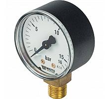Watts  F+R200(MDR) 50/16x1/4 Манометр радиальный 50мм, 0-16 бар