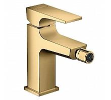 Смеситель для биде со сливным клапан Push-Open Hansgrohe Metropol 32520990 золото