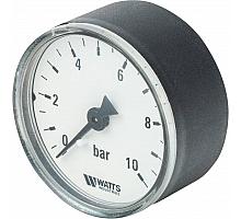 Watts  F+R100(MDA) 50/10x1/4 Манометр аксиальный 50мм, 0-10 бар.