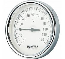 Watts  F+R801(T) 80/75 Термометр биметаллический  с погружной гильзой  80 мм
