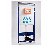 Инсталляция для подвесного унитаза с регулируемой верхней планкой и шпильками 1130х510х100 Aquatek INS-0000009 + звукоизоляционная прокладка