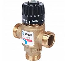 STOUT  Термостатический смесительный клапан для систем отопления и ГВС  3/4  резьба