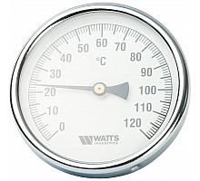 Watts  F+R801(T) 100/75 Термометр биметаллический  с погружной гильзой  100 мм