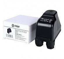 STOUT SCS-0001 Реле давления для водоснабжения PM12G, 3-12 бар,1/4, с накидной гайкой