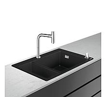 Кухонная мойка с встроенным смесителем Hansgrohe C51-F635-09 77x51 43220000