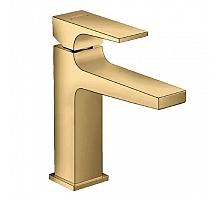Смеситель для раковины Hansgrohe Metropol 110 со сливным клапаном Push-Open 32507990 золото