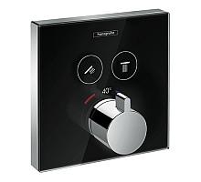 Термостат для душа Hansgrohe ShowerSelect 15738600 черный/хром