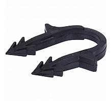 STOUT SMF-0004 Скоба якорная с двойным креплением для труб д.16-20мм, цвет черный