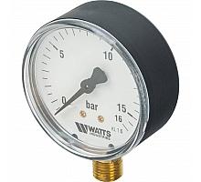 Watts  F+R200(MDR) 63/16 Манометр радиальный нр 1/4х 16 бар (63мм)