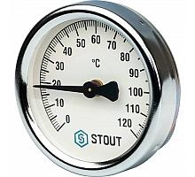 STOUT SIM-0004 Термометр биметаллический накладной с пружиной. Корпус Dn 63 мм, 0...120°С, 1-2