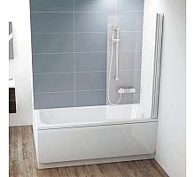 Шторка для ванны Ravak CVS1-80 R (белый + транспарент) 7QR40100Z1