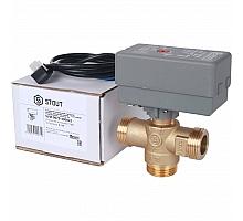 STOUT  3-Ходовой зональный клапан, сервопривод 230V, с кабелем 1м., НР 1