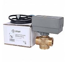STOUT  Компактный 2-Ходовой зональный клапан, сервопривод 230V, с кабелем 1м., НР 1