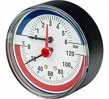 Watts  FR 818(TMAX) 6x1/2 Термоманометр аксиальный, 0-6 бар
