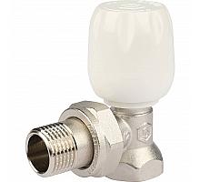 STOUT SVRs Клапан ручной терморегулирующий с неподъемным шпинделем, угловой 1/2