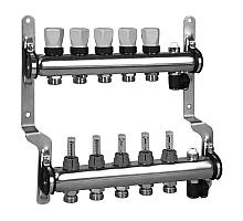 Meibes Коллектор для систем напольного отопления с расходомерами (нержав. сталь)