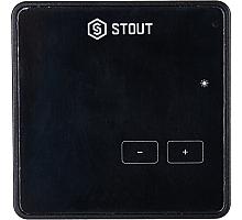STOUT  Проводной комнатный регулятор R-10z, черный