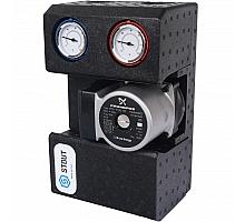 STOUT SDG-0002 Насосная группа с термостатическим смесительным клапаном 3/4с насосом Grundfos UPSO 15-65 130