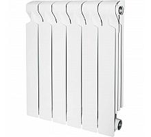 STOUT  VEGA 500 6 секций радиатор алюминиевый боковое подключение (белый RAL 9016)