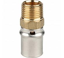 STOUT   Переходник с наружной резьбой 1/2х20 для металлопластиковых труб прессовой